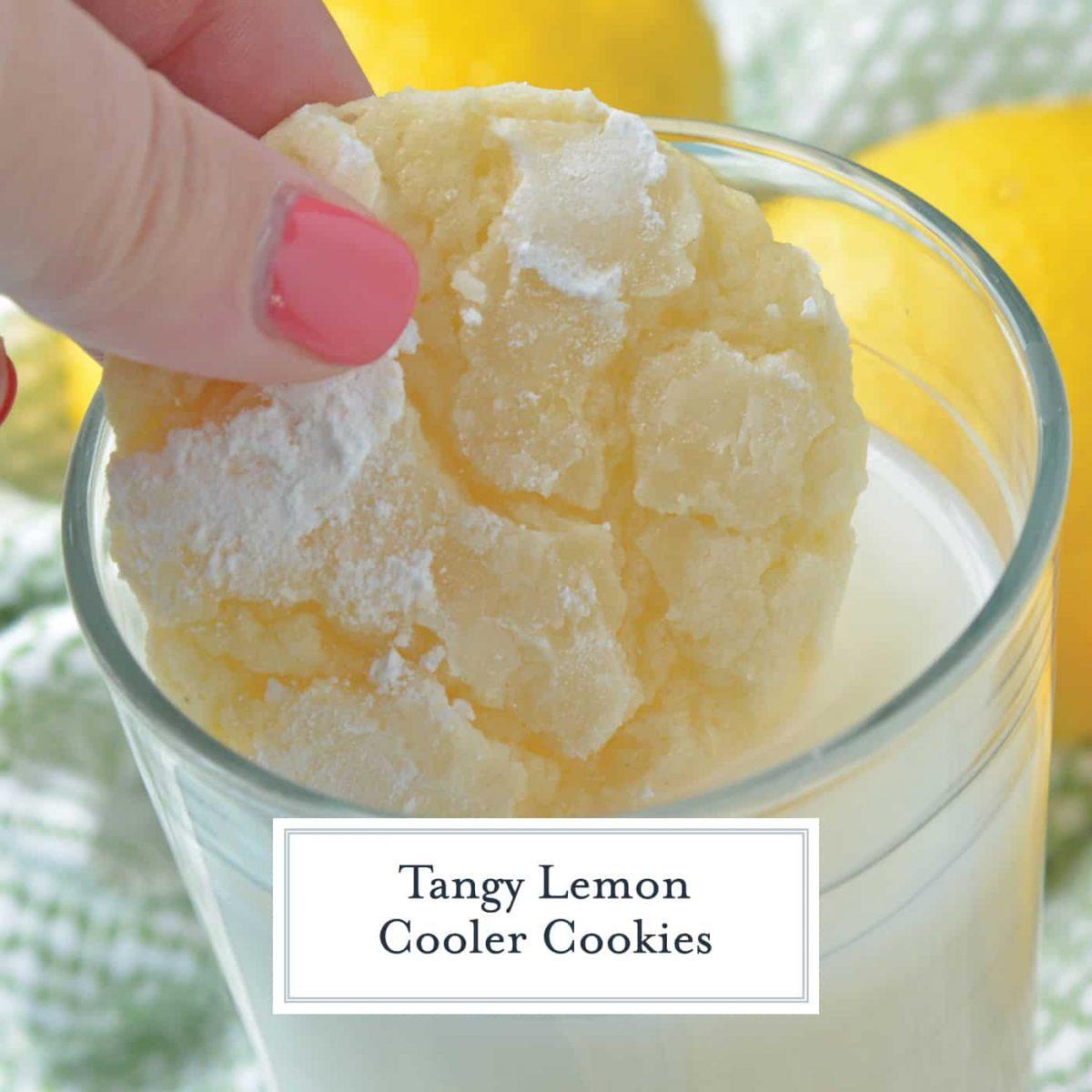 Lemon Cooler Cookies, also known as Sunshine Lemon Coolers, are a classic cookie recipe using fresh lemon and powdered sugar.#lemoncoolercookies #lemoncoolers #lemoncookies www.savoryexperiments.com