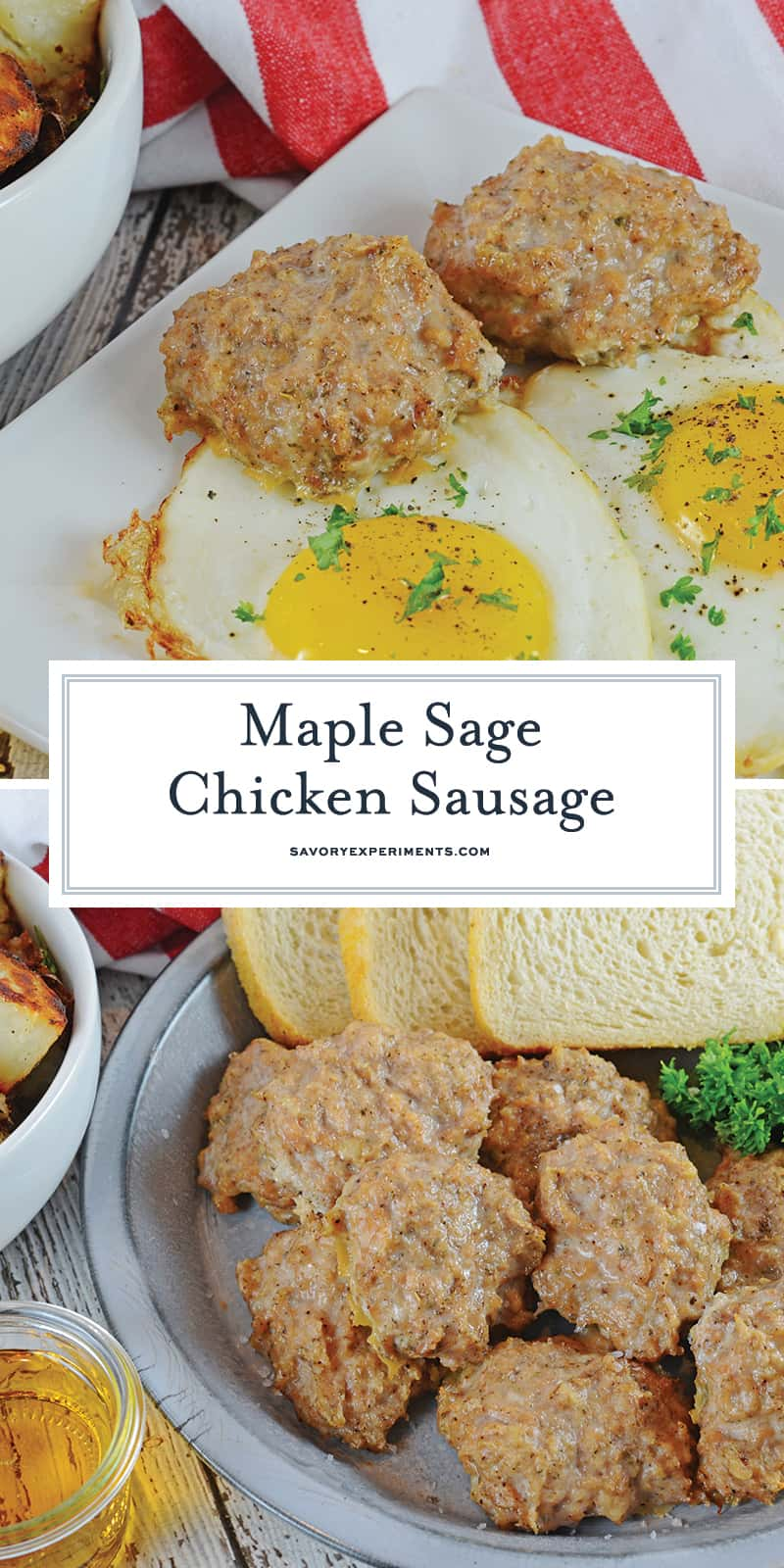 Maple Sage Chicken Sausage | Savory Experiments