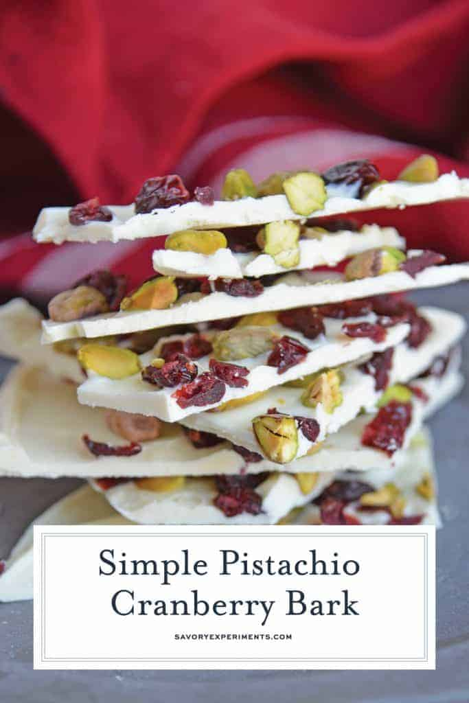 Pistachio cranberry bark for pinterest