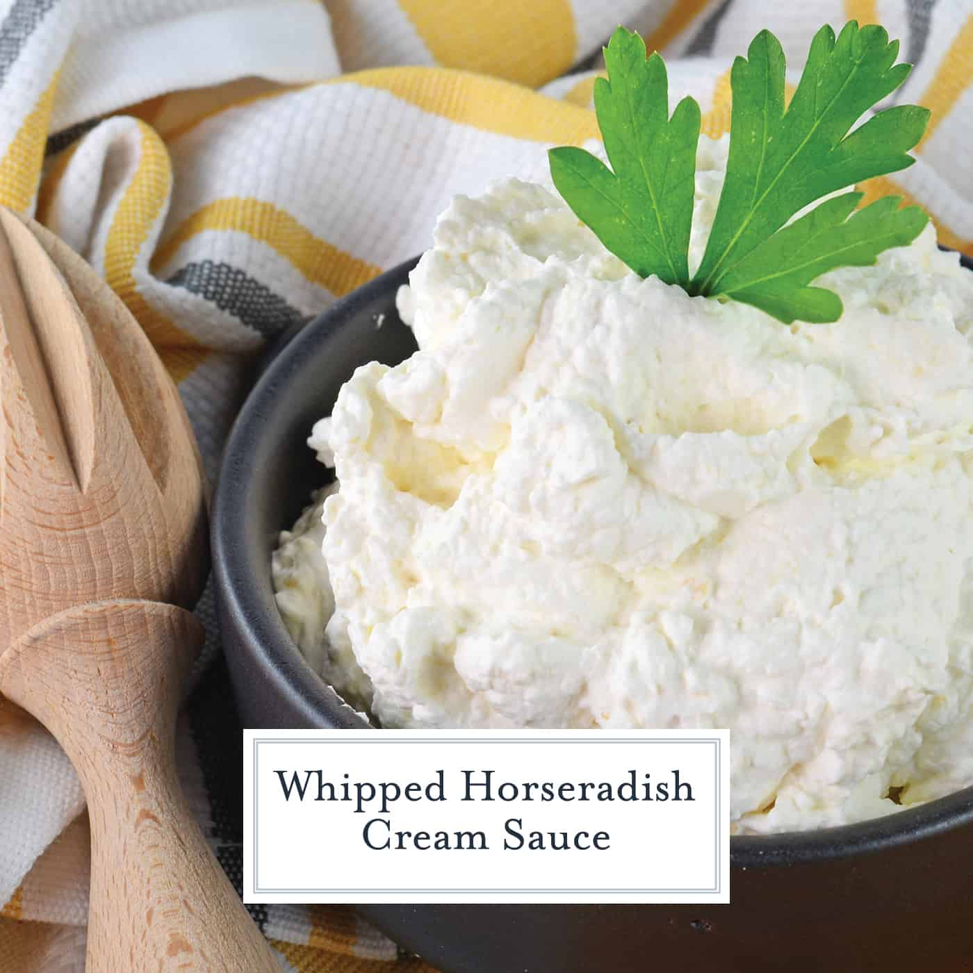 A fluffy Horseradish Cream Sauce is the perfect, light sauce for Prime Rib or to slather on a roast beef sandwich! #horseradishsauce www.savoryexperiments.com