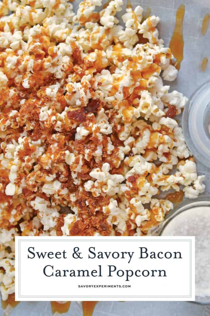 Close up of bacon caramel popcorn