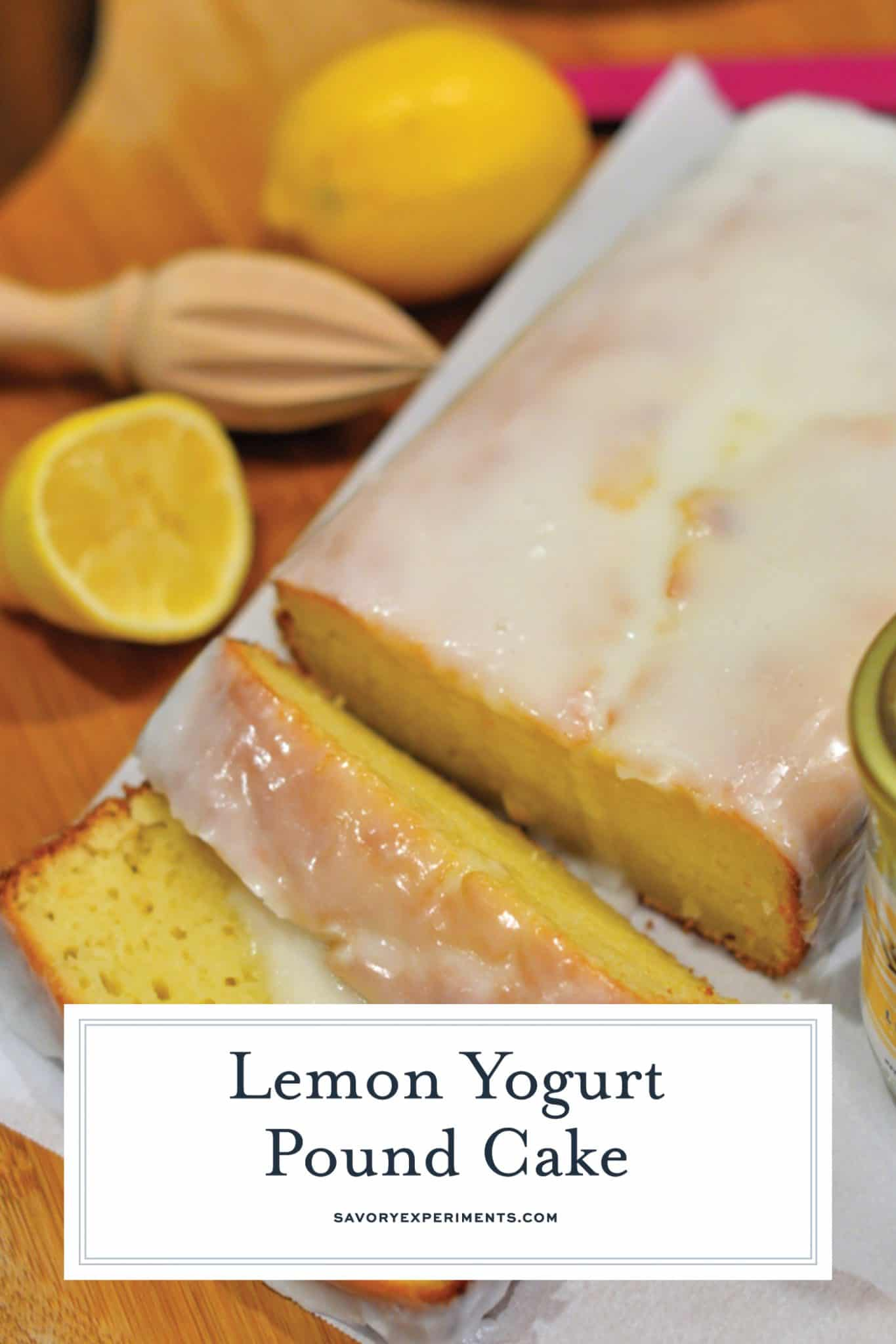 Lemon Yogurt Pound Cake is moist and rich while slashing the fat from not using any butter! An easy pound cake recipe perfect for breakfast, brunch, dessert, tea or coffee. #lemonpoundcake #yogurtpoundcake www.savoryexperiments.com