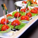 Amuse Bouche Caprese Stacks
