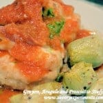 Gruyere, Arugula and Prosciutto Stuffed Chicken Breast with a Tomato Shallot Sauce