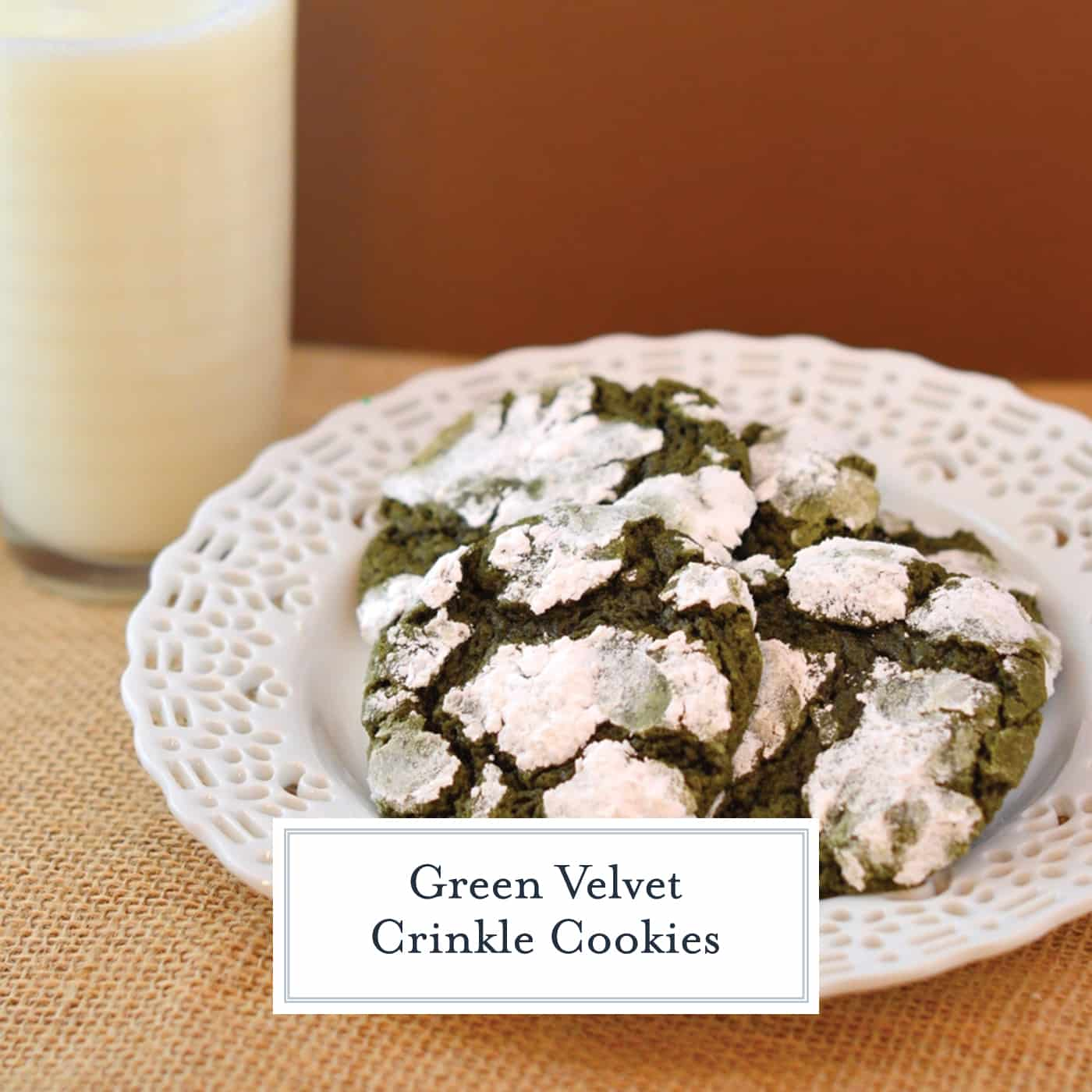 Green Crinkle Cookies Recipe Cookies For St Patrick S Day