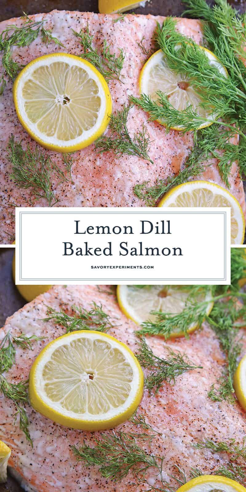 Lemon Baked Salmon for Pinterest