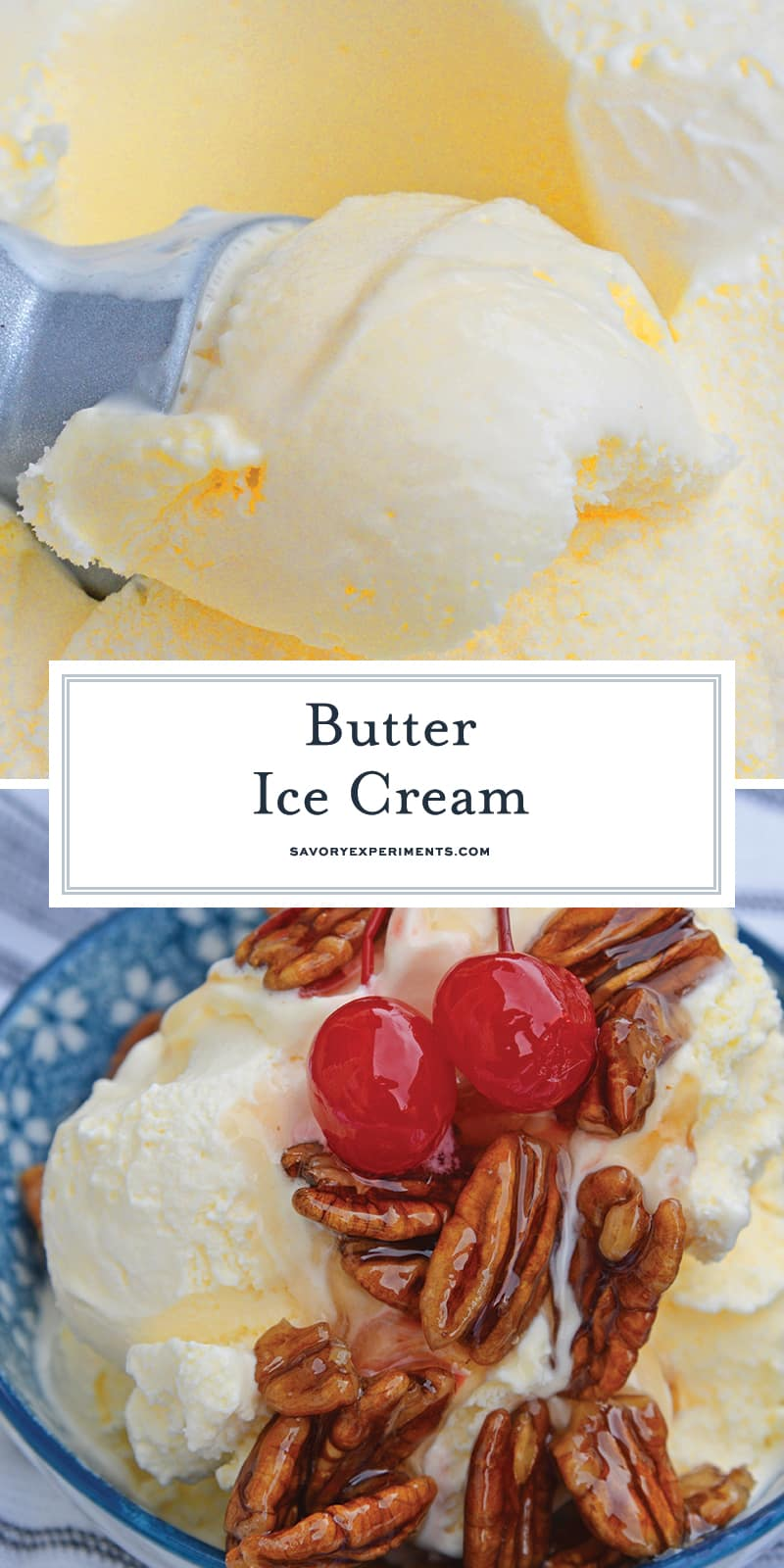 butter ice cream for pinterest