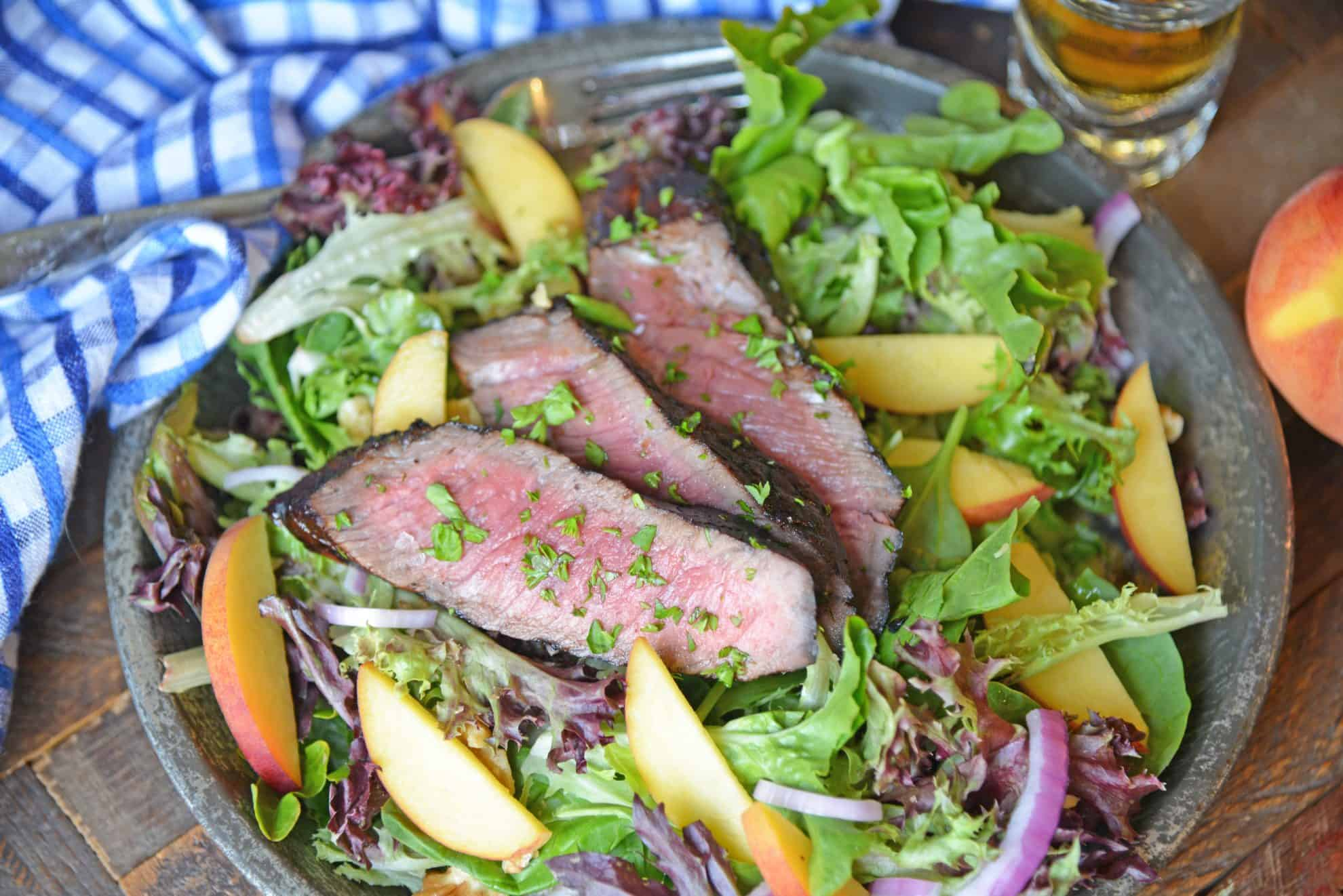 Steak and Peach Salad
