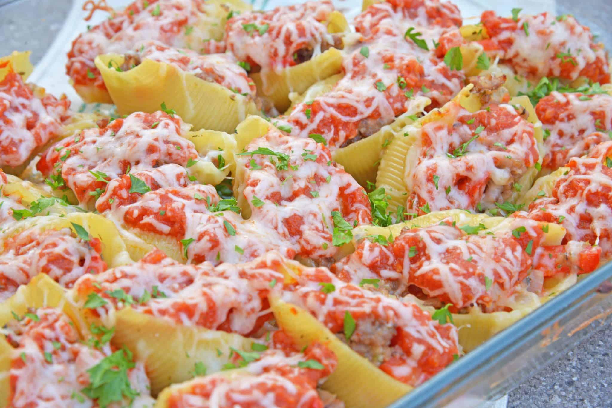 These Sausage and Peppers Stuffed Shells are a mashup of two fan favorites and are a fun way to spice up any weekday meal. They are guaranteed to wow!