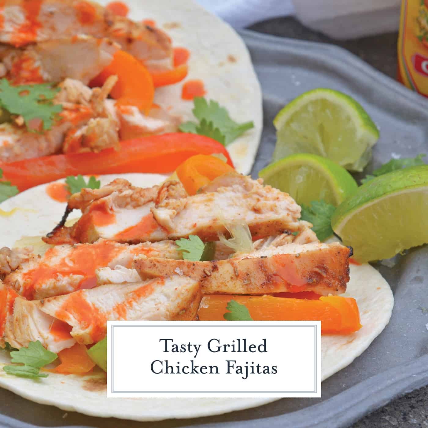 My Grilled Chicken Fajitas are a simple and healthy meal that you can have ready in under 30 minutes and make for the perfect weeknight meal.#grilledchickenfajitas #fajitas #grilledchicken www.savoryexperiments.com