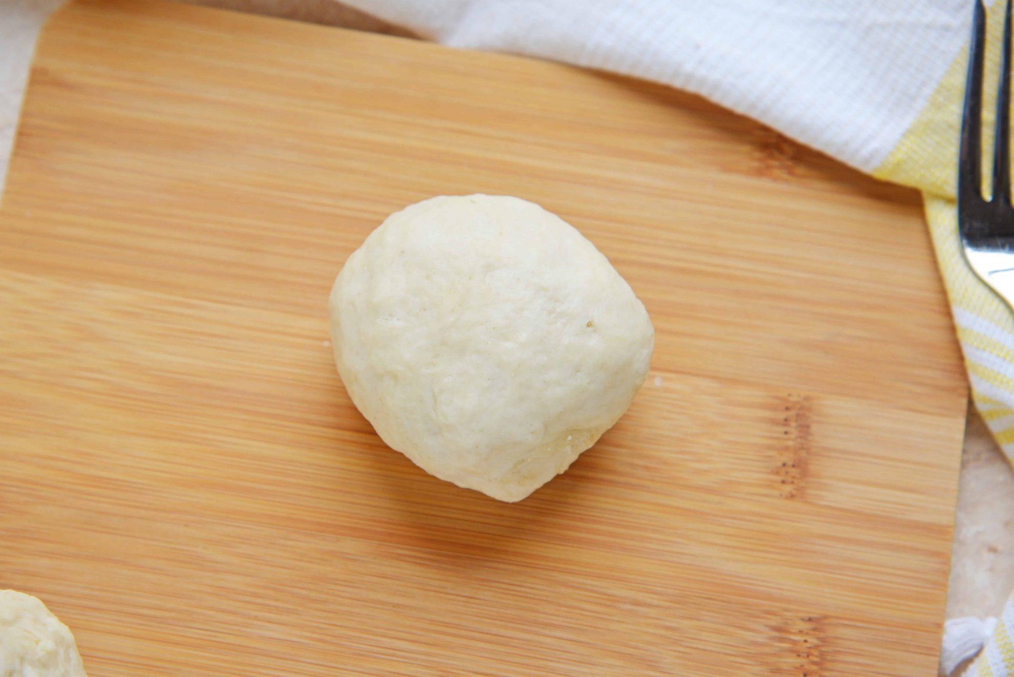 Raw Pretzel Dough Roll