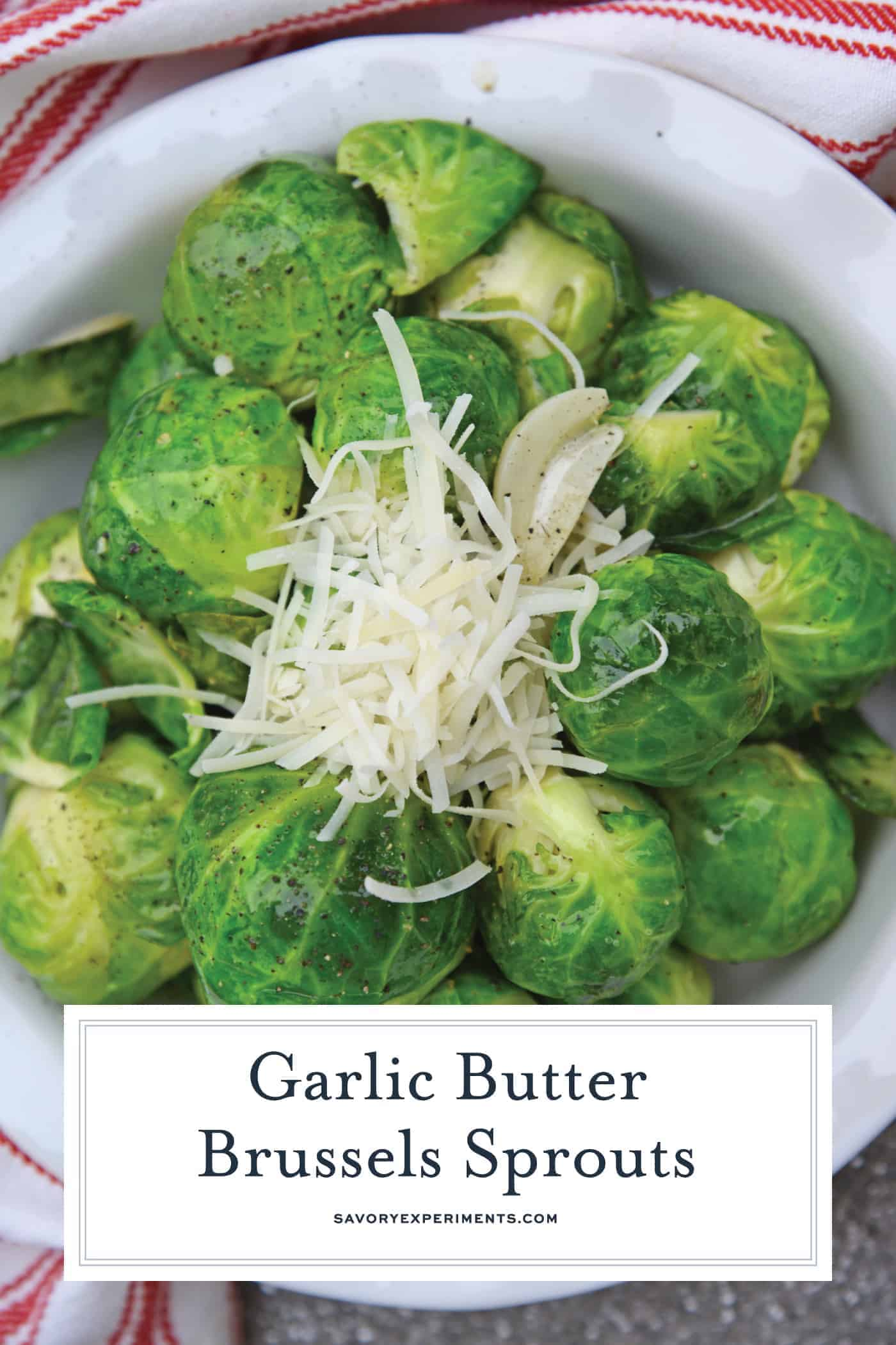 garlic butter brussels sprouts