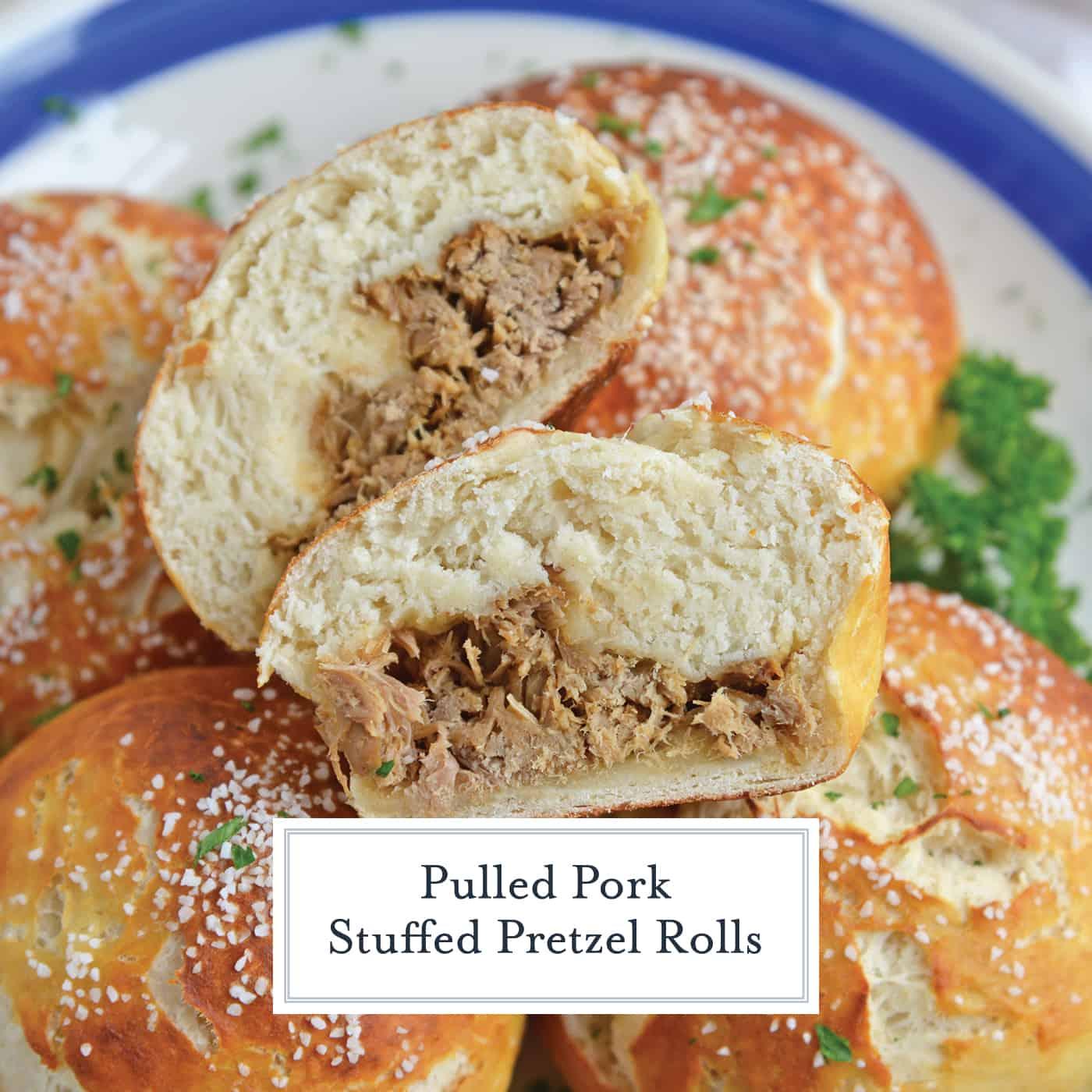 Pulled Pork Stuffed Pretzel Roll