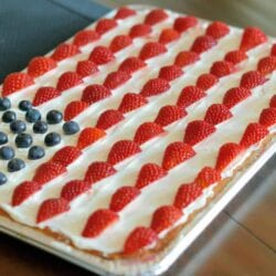 american flag sugar cookie cake