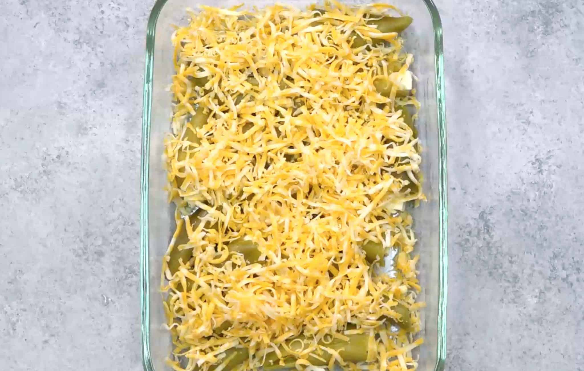 Chiles Stuffed with Cheese and Topped with Grated Cheese