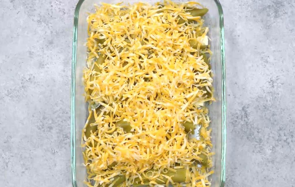 Chile Relleno Casserole is a breakfast casserole with eggs, two types of cheese and mild green chiles. The perfect breakfast recipe for feeding a crowd!