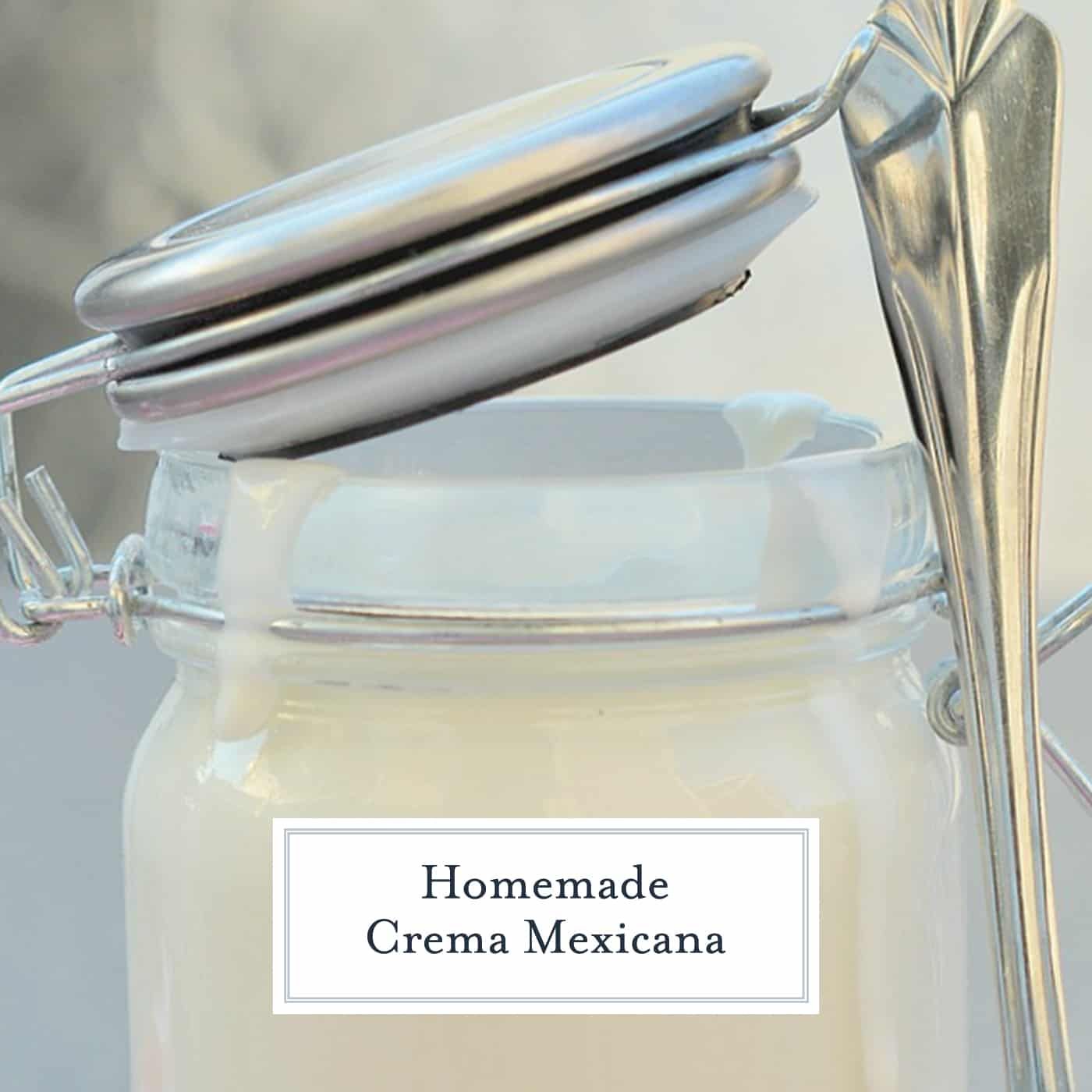 Homemade Crema Mexicana made with just a handful of ingredients you have in your pantry. Perfect for tacos, burritos, and Street Corn Salad! #crema #cremamexicana www.savoryexperiments.com
