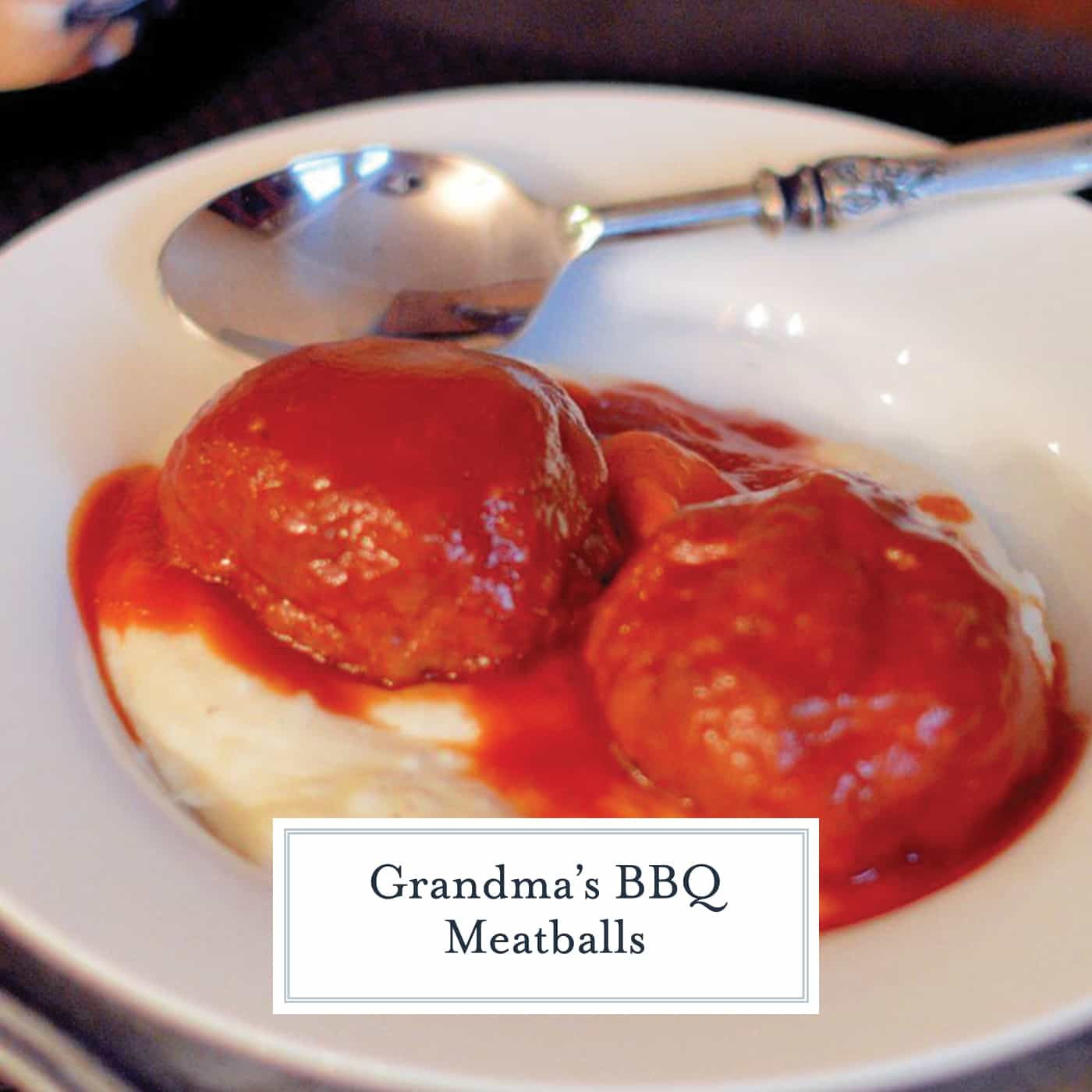 Grandma's BBQ Meatballs are a tasty and unique take on a classic. Perfect for game day, as an appetizer, or as a main course. #grandmasbbqmeatballs #bbqsauce #meatballs www.savoryexperiments.com