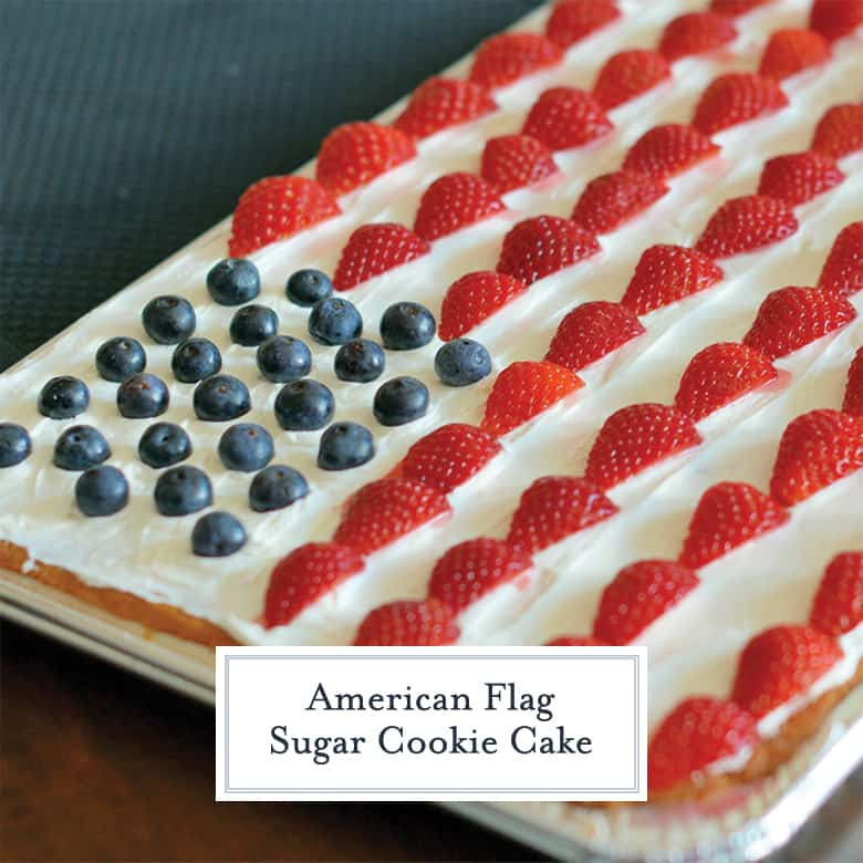 Super Simple American Flag Sugar Cookie Cake A Fourth Of July