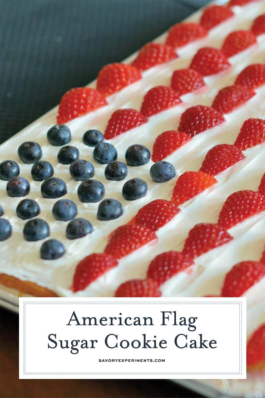 American Flag Sugar Cookie Cake Recipe