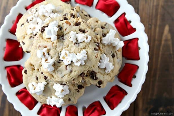 popcorn pretzel cookies