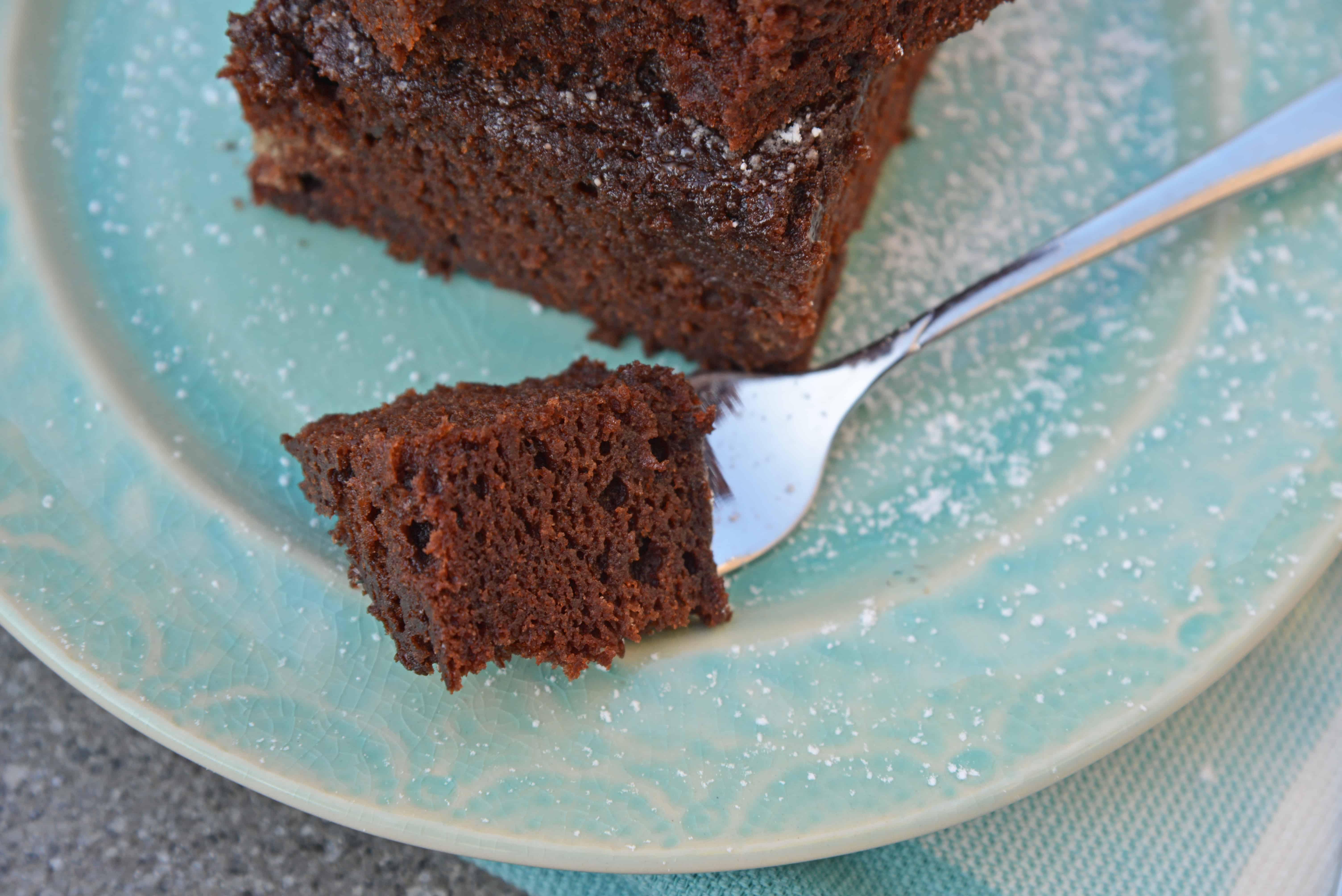 This Chocolate Beet Cake hides an entire serving of veggies inside a moist, rich chocolate cake! This is the best beet cake that you will ever make! #chocolatecakerecipe #beetcake #chocolatebeetcake www.savoryexperiments.com