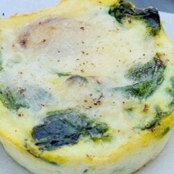 Mushroom Spinach Egg Muffins are the perfect idea for making ahead to freeze in individual serving sizes, or for guests for brunch or breakfast! #eggmuffins #eggcups #muffintineggs www.savoryexperiments.com