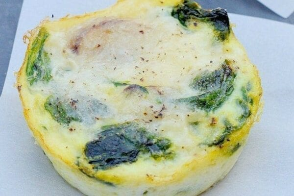 Spinach and Mushroom Breakfast Cups