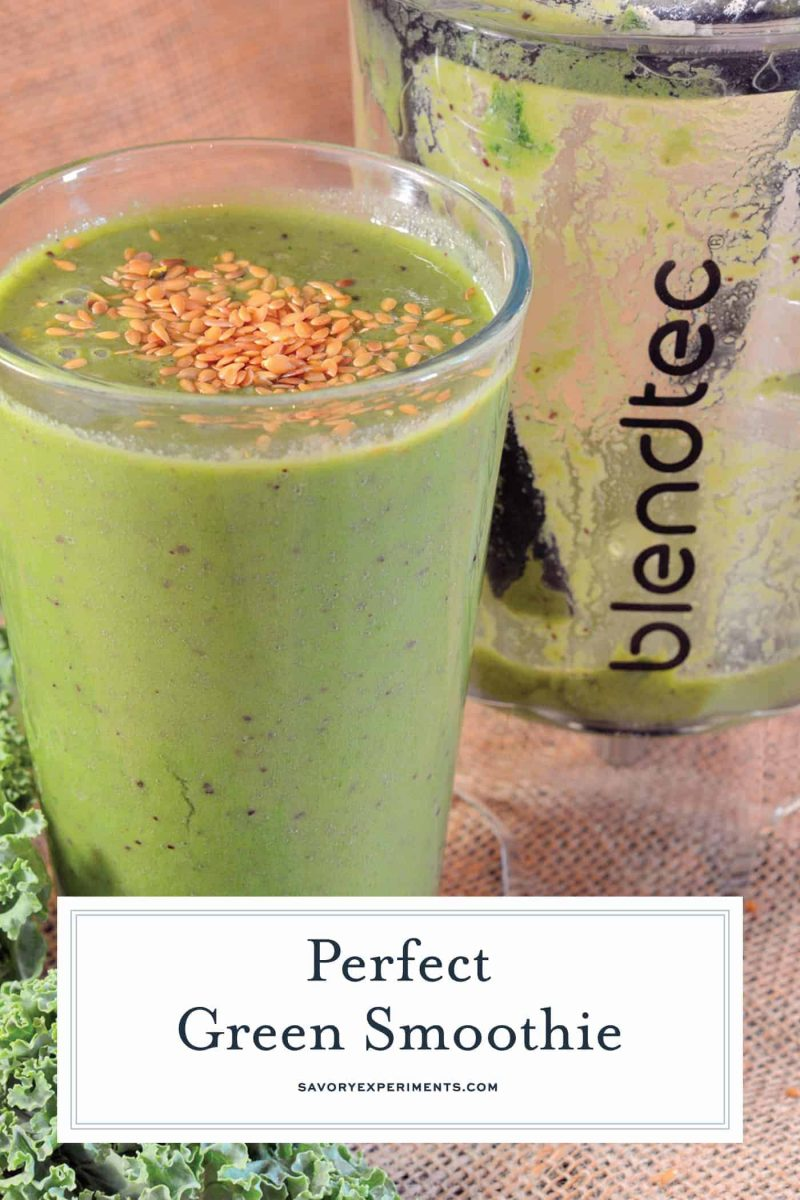 Green smoothie with chia seeds