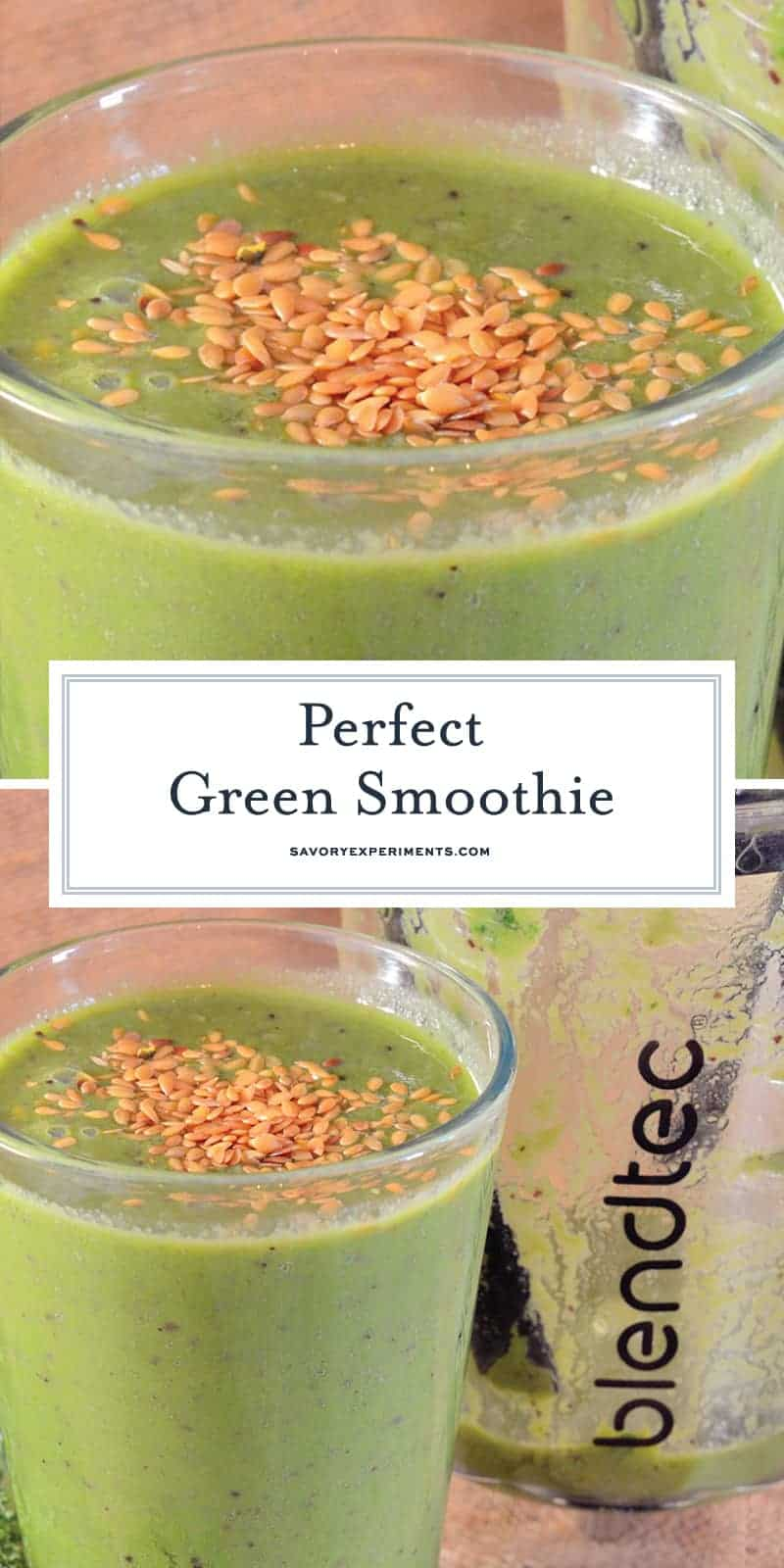 There are many ways to make a Green Smoothie, but here is the simple formula with my favorite blend!#greensmoothie #smoothierecipes www.savoryexperiments.com