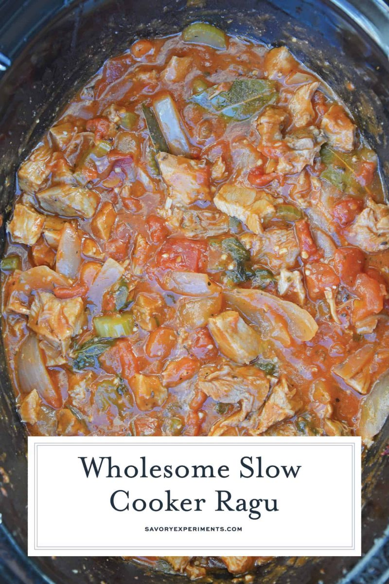 Slow Cooker Ragu in a crockpot