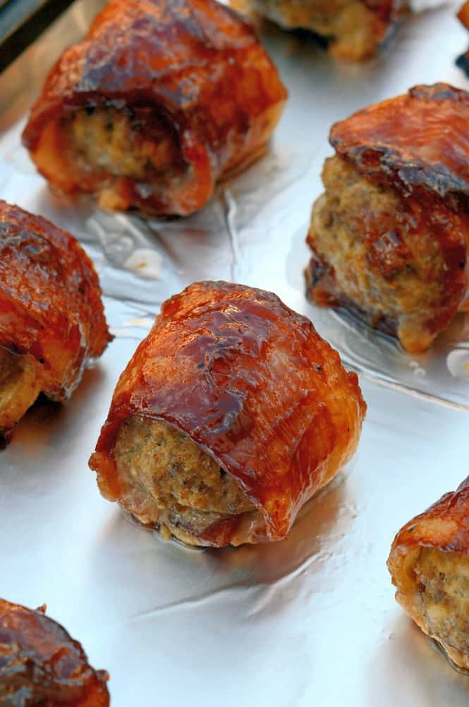 Must-Make Easy Recipes for Game Day! – BBQ Bacon Wrapped Meatballs image