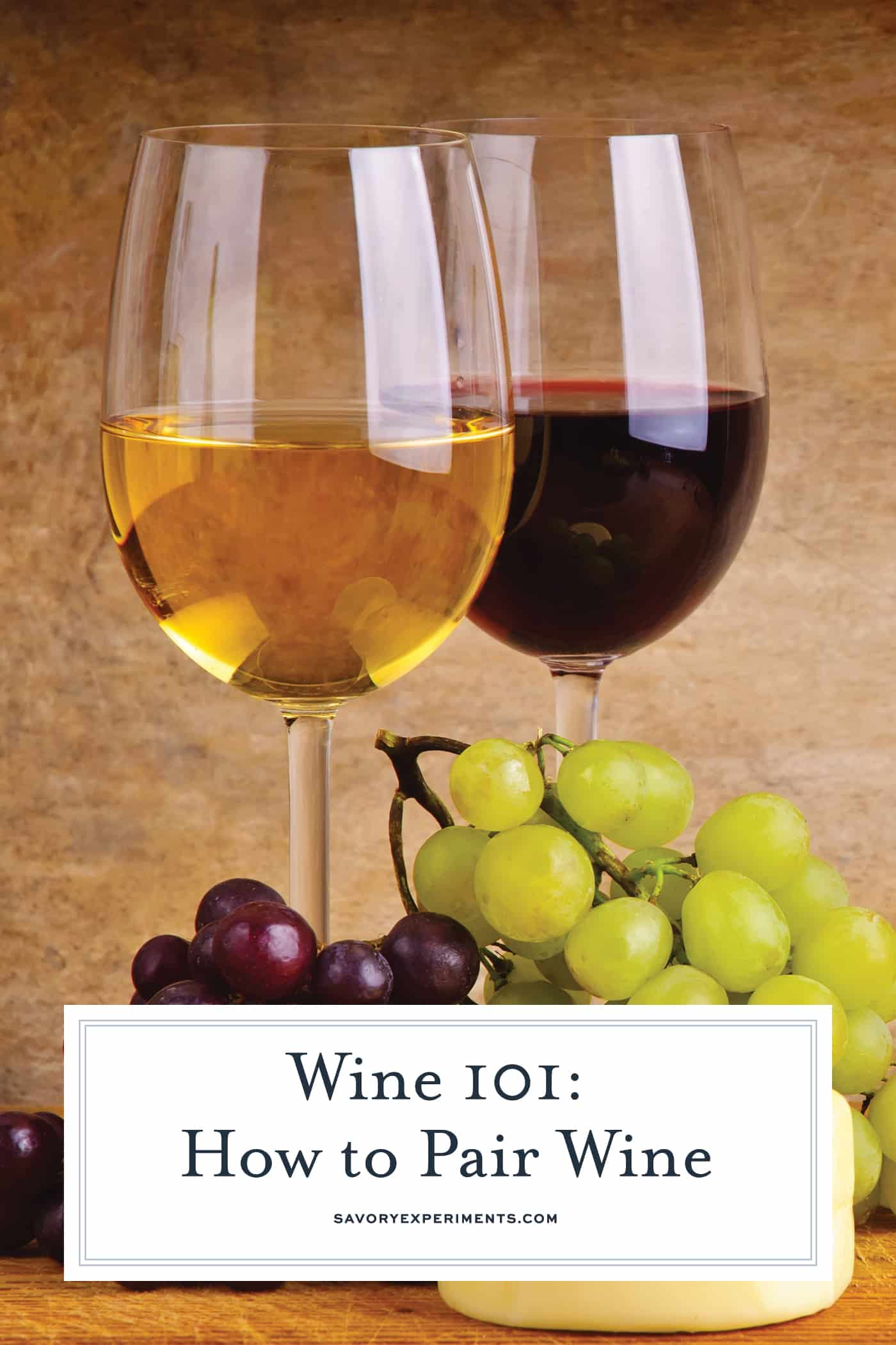 Wine 101: How to expertly pair wine with food without being a sommelier. Learn a few party tricks and pair like a pro! #howtopairwine www.savoryexperiments.com