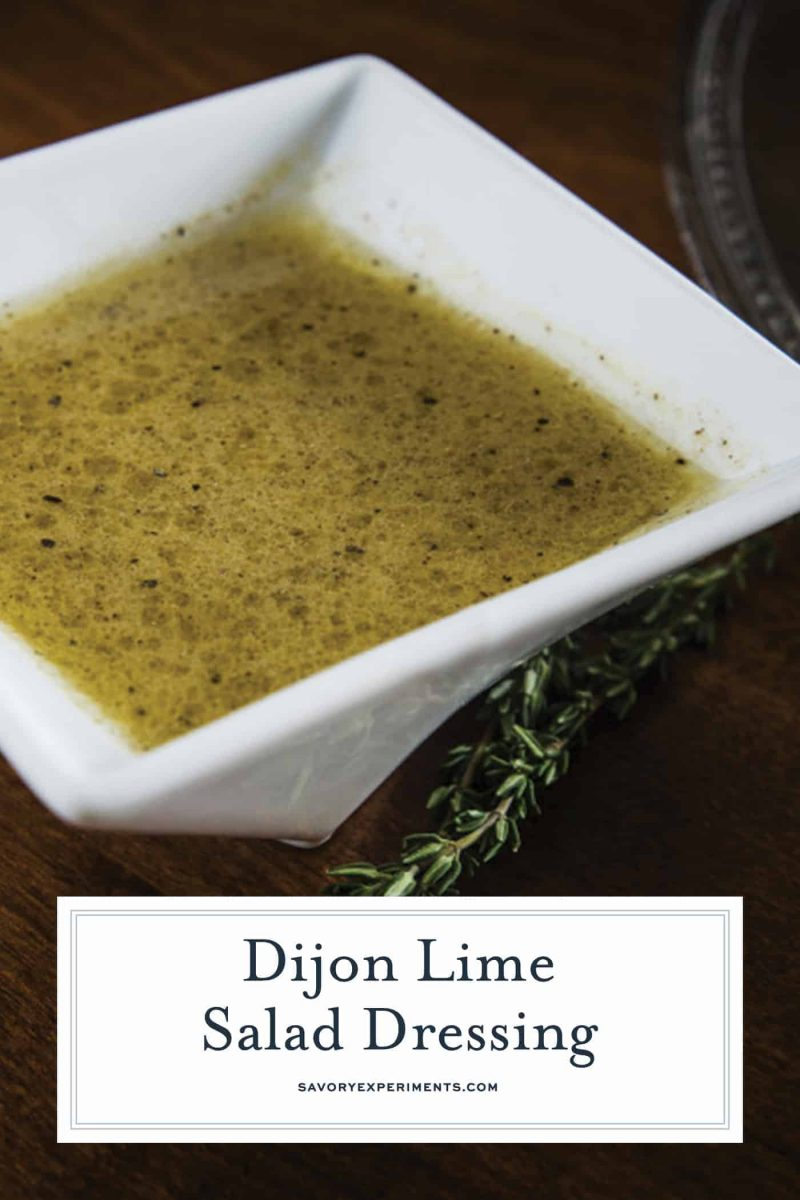 Dijon lime salad dressing for pinterest