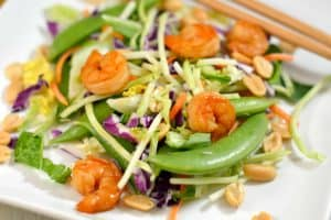 Ginger Bok Choy Salad Kit and Soy Lime Shrimp