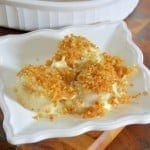Bechamel Baked Scallop Recipe- easy scallop recipe in a silky cheese sauce. Serve with crusty bread for dipping.