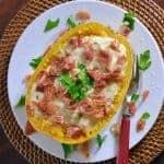 Spaghetti Squash with Crispy Prosciutto and Creamy Brie Sauce Recipe