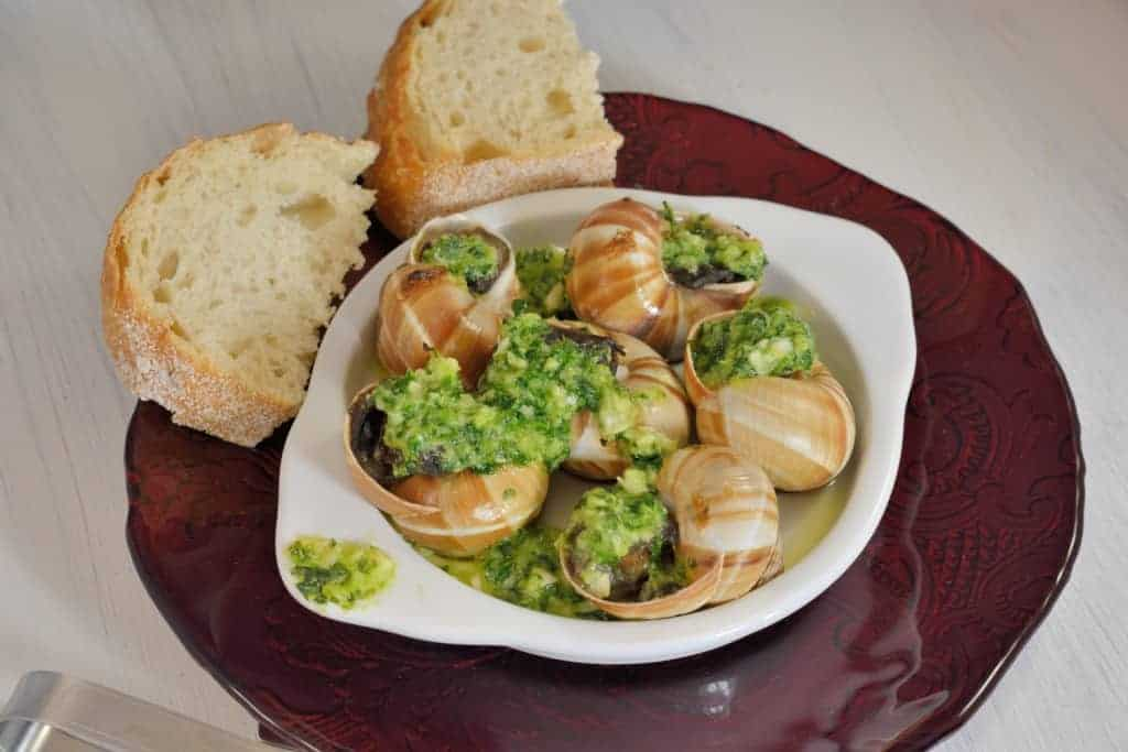 Escargots a la Bourguignonne (Escargot with Herbed Butter)