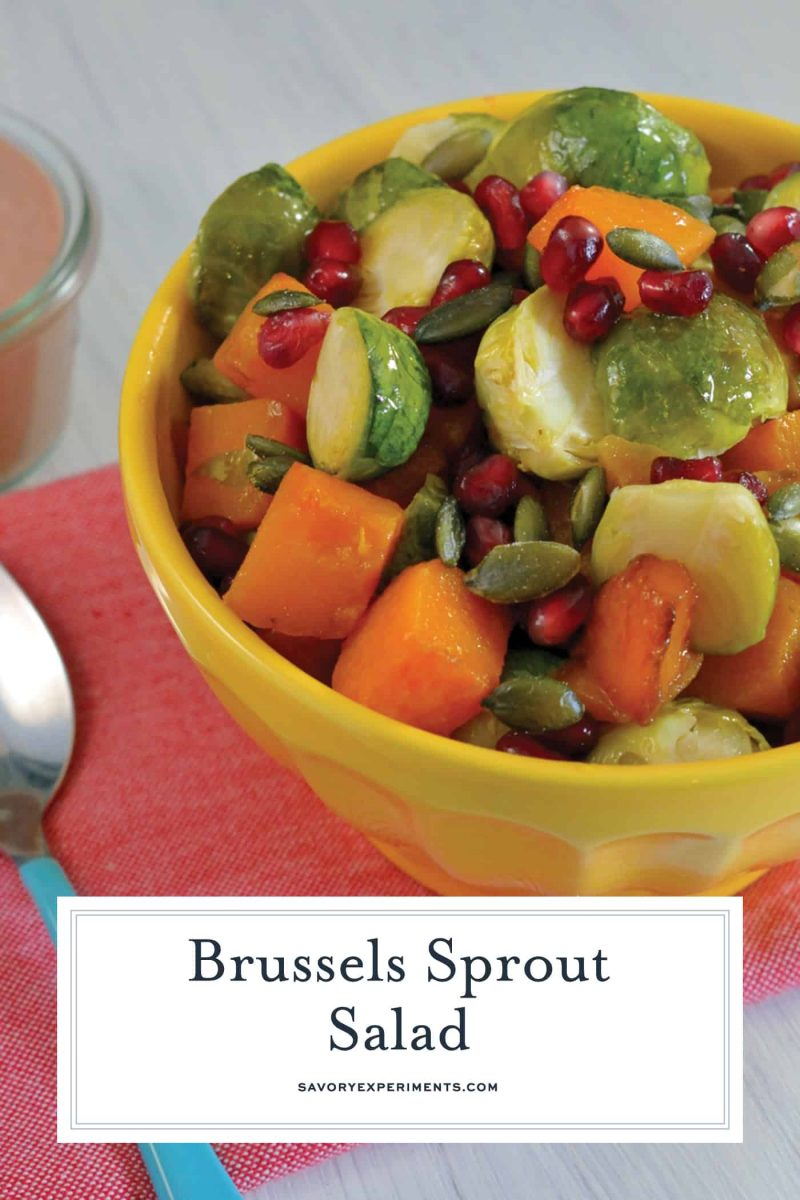 Bowl of brussel sprout salad