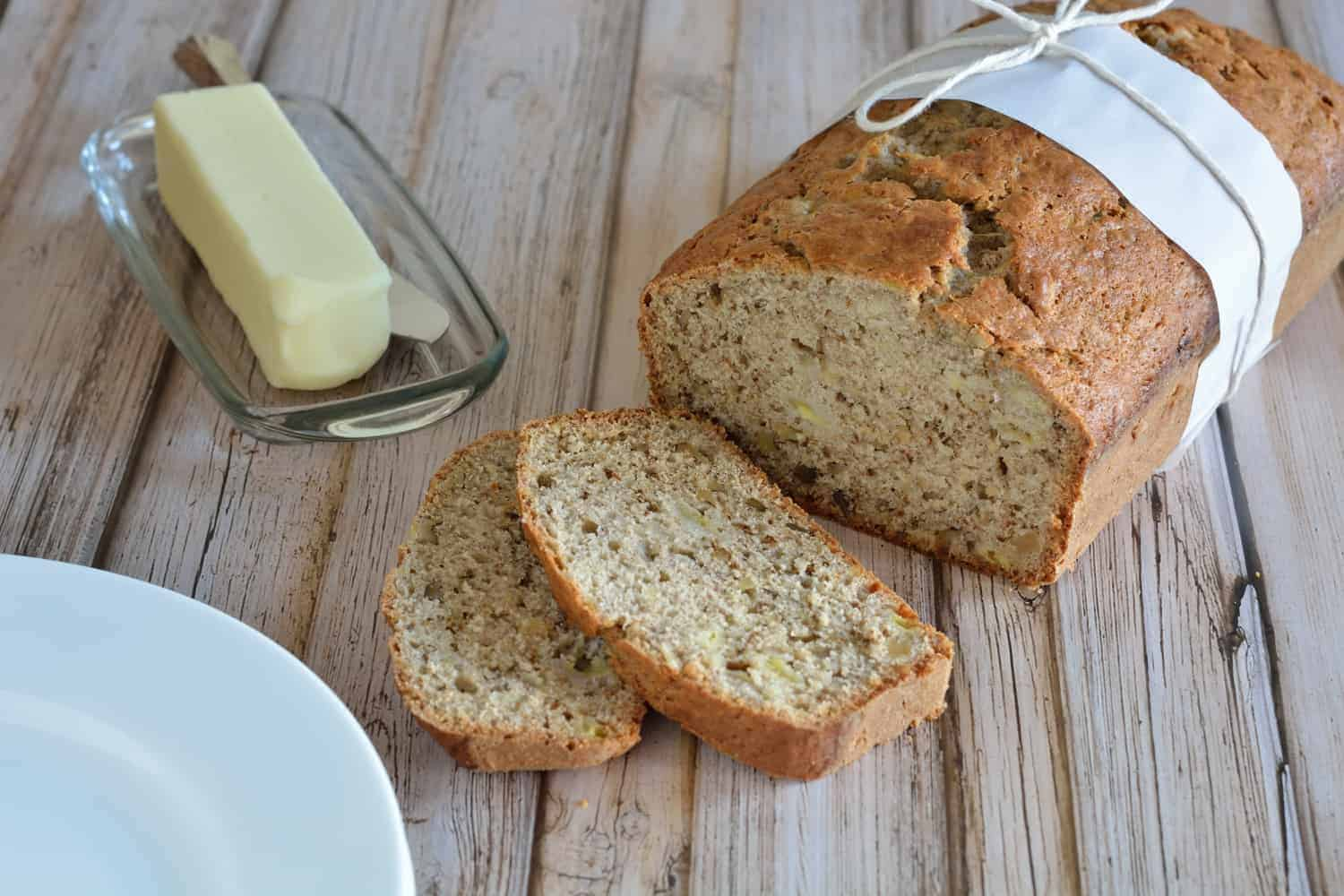 Banana Walnut Bread Recipe- The most moist classic banana walnut bread you will ever bake. I've been making this recipe for 17 years.   #bananabread   www.savoryexperiments.com