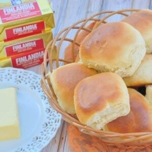 Soft, easy dinner rolls are easier to make than you think! Check out my speedy yeast rolls that you can make ahead and freeze!