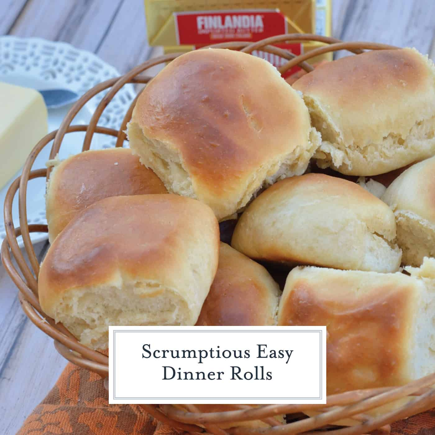Soft, easy dinner rolls are easier to make than you think! Check out my speedy yeast rolls that you can make ahead and freeze. #dinnerrolls #yeastrolls #homemadebread www.savoryexperiments.com