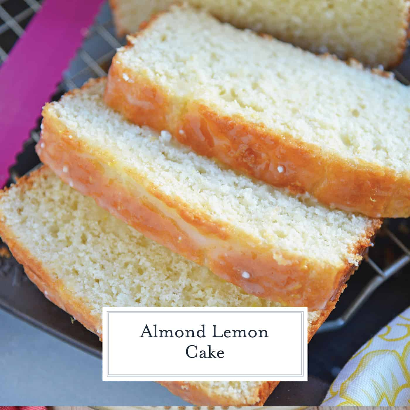 Iced Almond Lemon Loaf Cake