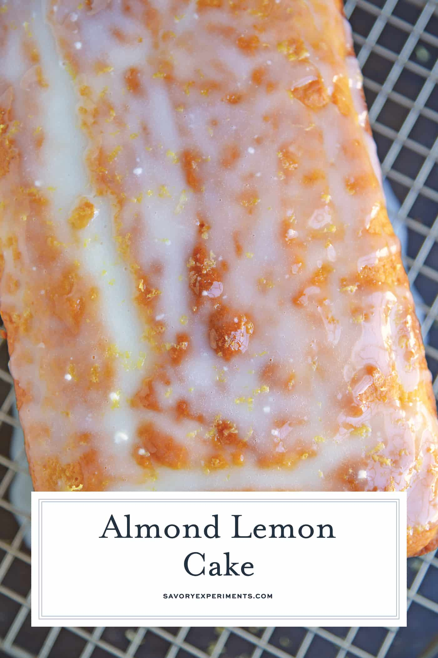 Yogurt, fresh lemon and almond give this sunny loaf cake a unique flavor and texture that everyone will love. Perfect for brunch, tea or dessert! #loafcake #lemoncake #almondcake www.savoryexperiments.com