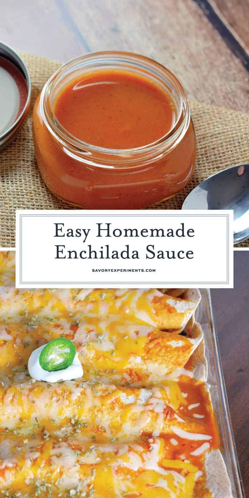 Homemade Enchilada Sauce for Pinterest
