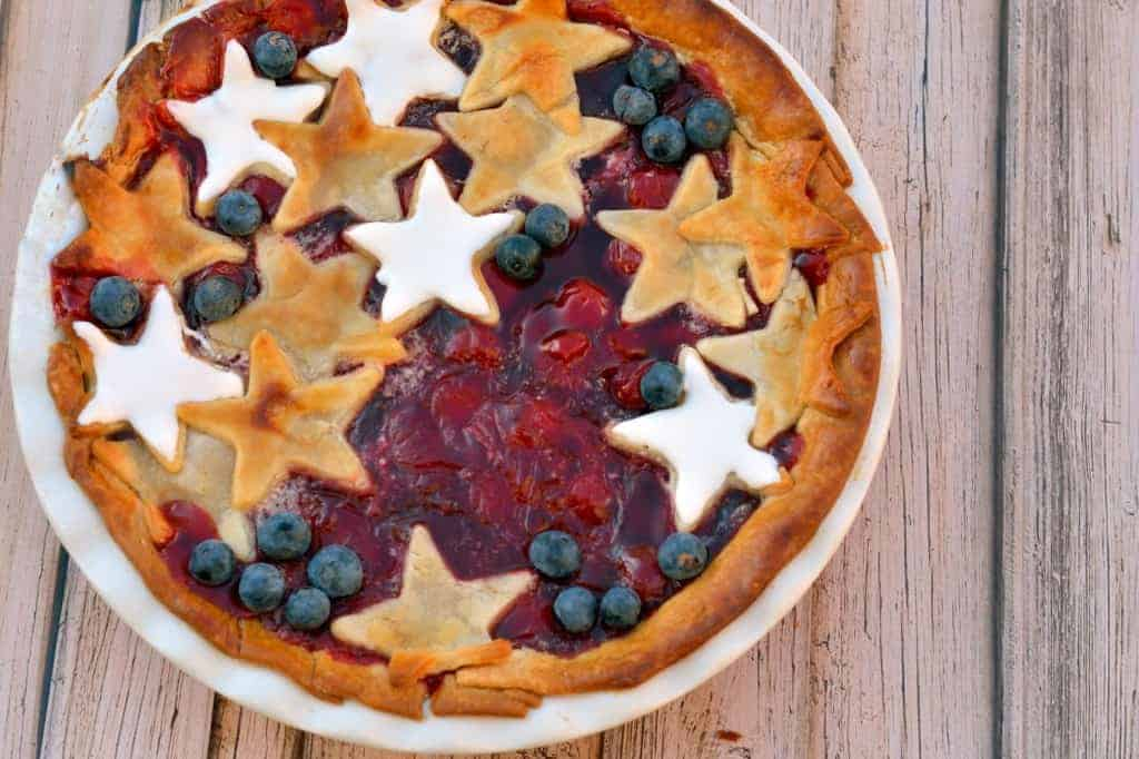 Red, White and Blue Cherry Pie is the ultimate patriotic nod to honor our great nation.   #cherrypie   www.savoryexperiments.com