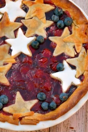 Red, White and Blue Cherry Pie is the ultimate patriotic nod to honor our great nation. | #cherrypie | www.savoryexperiments.com