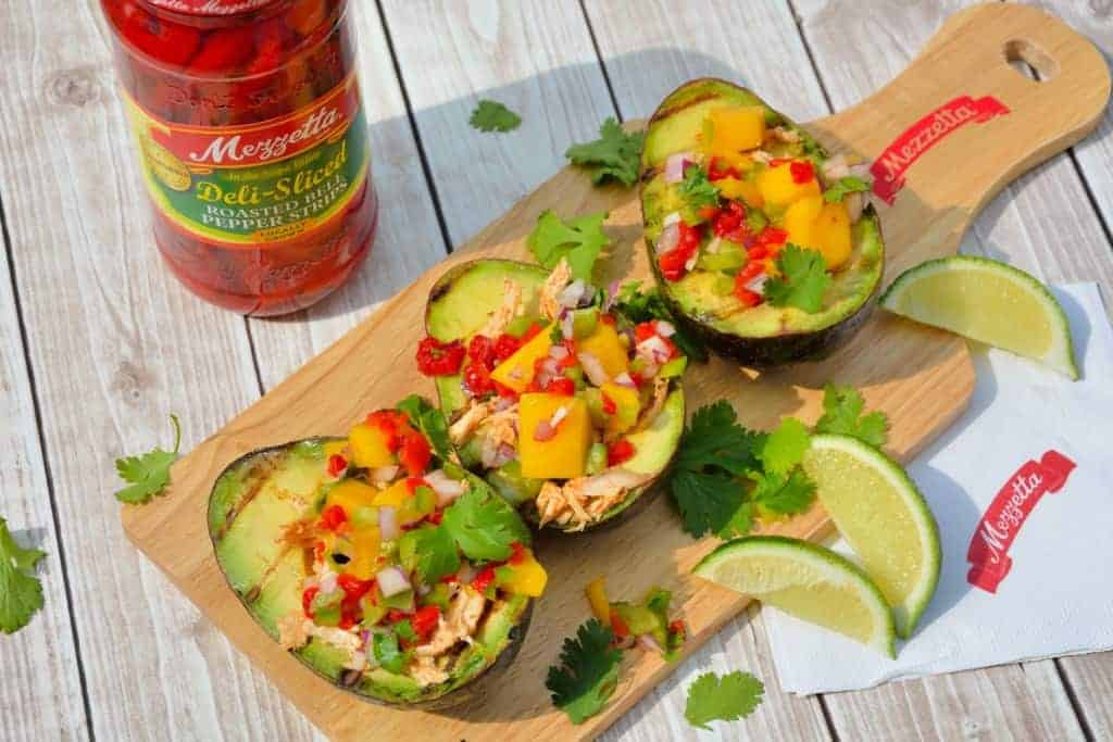 Grilled Avocados With Mango Salsa Chicken Easy Heathly