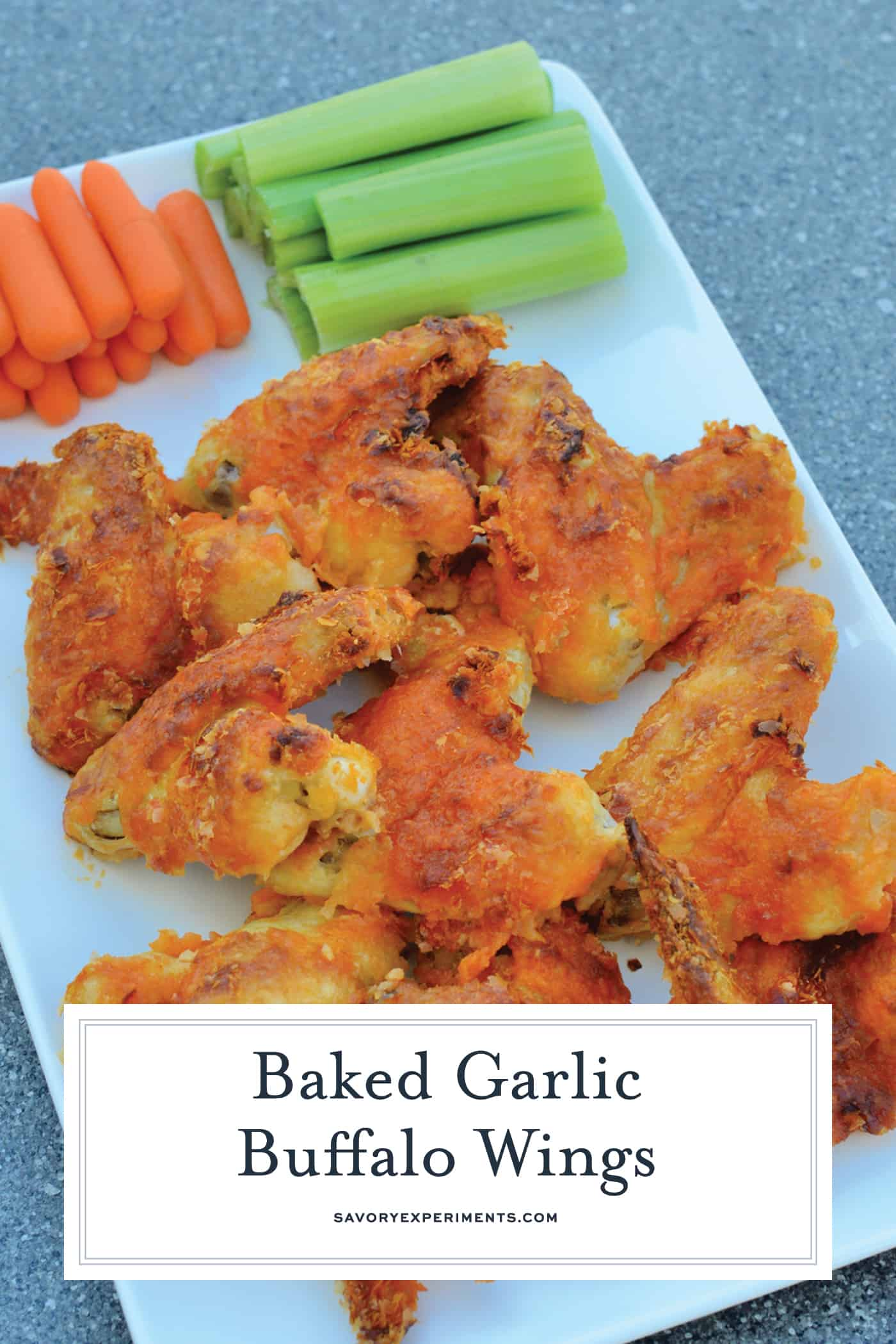 Crispy Baked Buffalo Wings uses a secret ingredient to