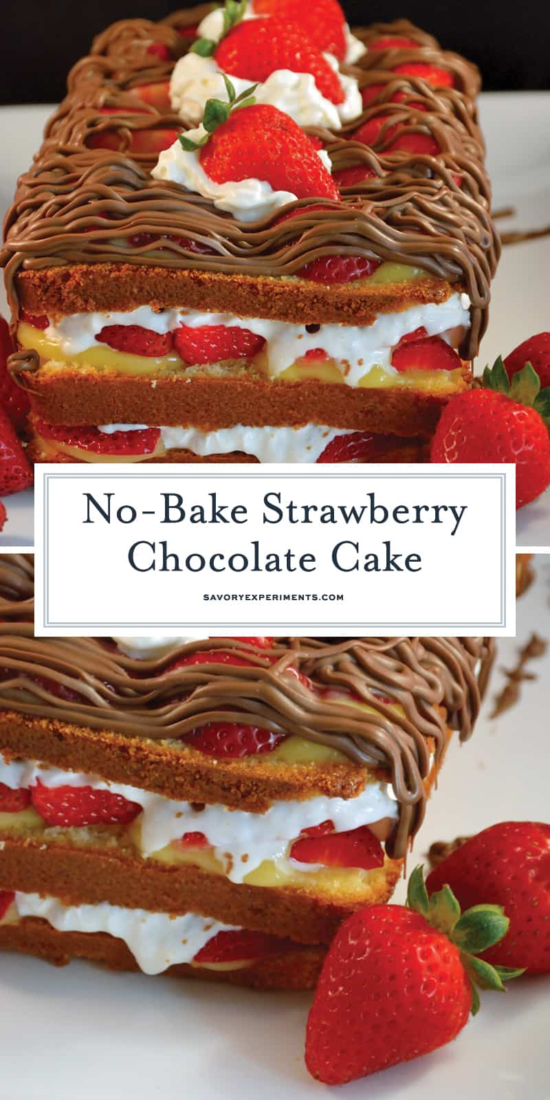 No-Bake Strawberry Chocolate Cake | Easy No Bake Dessert ...